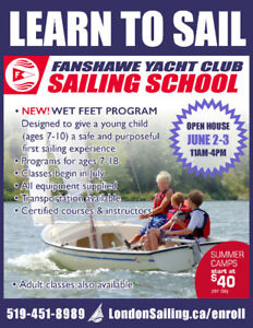 Summer Sailing (London) - Courses start at $40 per day
