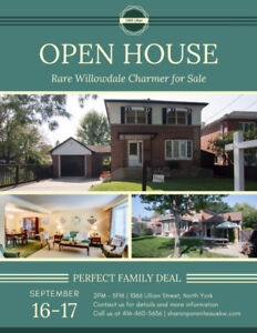 OPEN HOUSE SAT 16th & SUN 17th - Willowdale