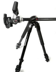 Manfrotto 190XPROB Professional Tripod, Black with 804RC2 3 axis