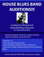 HOUSE BLUES BAND AUDITIONS