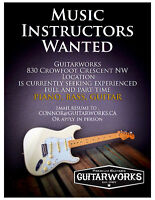 Guitar, Bass, and Piano Teachers Wanted!