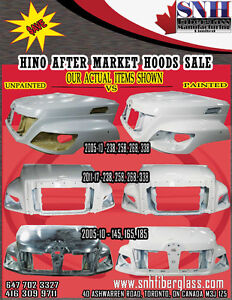 2005-17 NEW HINO AFTERMARKET HOODS AND BUMPERS - $2550