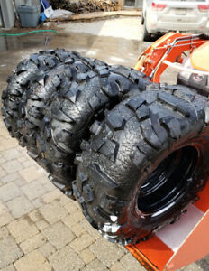 Maxxis Snow Beast ATV or SxS Tires w/ Polaris Rims ( With Studs)