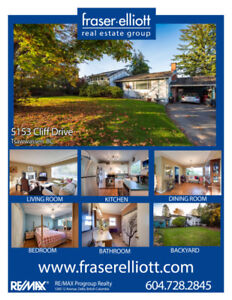 Large 8,484 sq.ft lot on Tsawwassen's highly coveted Cliff Drive