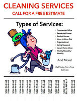Professional Cleaning Services **call for a free estimate**