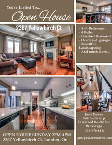 *****OPEN HOUSE SUNDAY 2PM-4PM 2367 Yellowbirch Ct*****
