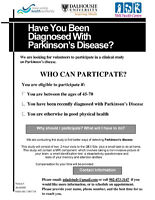Have you been diagnosed with Parkinson's disease?