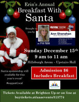 Breakfast with Santa in Hillsburgh - Brought 2 U by Ann Shanahan