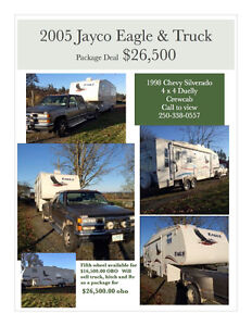 Jayco Eagle Fifth Wheel and 1998 Crewcab Duelly Package Deal