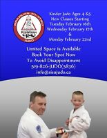 Kinder Judo Classes Starting February 16th, 17th and 22nd!