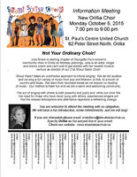 NEW Shout Sister Choir Chapter - Orillia and Barrie