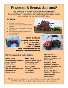 Planning a Spring Auction?