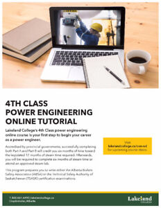 4th Class Power Engineering - Online classes - January 2018