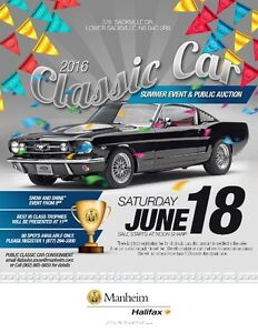 CLASSIC CAR AUCTION JUNE 18TH!!!