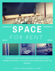 Facility/ Space for Rent