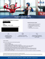 iFly Toronto First Time Flyer package for one person *4 flights