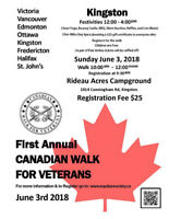 First Annual Canadian Walk for Veterans Happening in Kingston!