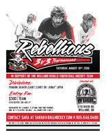 Rebellious 3 v 3 Ball Hockey Tournament