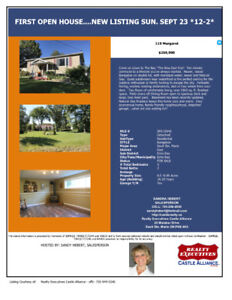 First OPEN HOUSE   Sunday Sept. 23rd   Noon-2:00