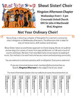 Shout Sister Kingston Afternoon is Welcoming New Members!