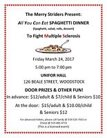 Merry Striders All You Can Eat Spaghetti Dinner!