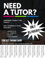 EXPERIENCED TUTOR- from $5/H! FRENCH,ONLINE, AP, IB Grades k-11.