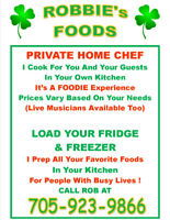ARE YOU A FOODIE ? Private CHEF Available
