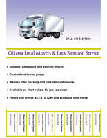 Last minute movers and junk removal service 6135137240
