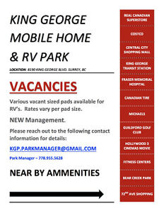VACANT RV PADS FOR RENT