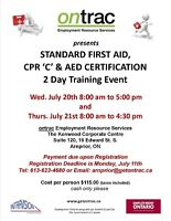 Standard First Aid/CPR/AED Certification