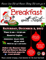 Breakfast with Santa in Hanover - December 2nd