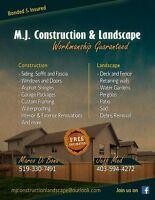 M.J CONSTRUCTION & LANDSCAPE
