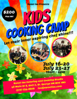 Kids Summer Cooking Camp