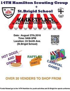 14th Hamilton Scouting Group & St Brigid School Marketplace