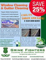 Save  25% on Window & Gutter Cleaner services