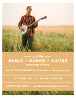 Music Lessons - Banjo, Guitar, Dobro. Bluegrass.