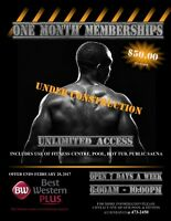 1 MONTH ALL INCLUSIVE GYM MEMBERSHIP $50 +HST
