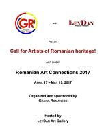 Call for Romanian Artists! Romanian Art Connections 2017