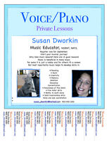 Music Lessons: Voice and Piano