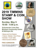 Timmins Coin and Stamp Show 2019