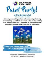 PAINT PARTY FUNDRAISER FOR THE BROCKVILLE PUBLIC LIBRARY