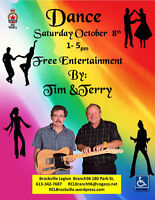 "Tim & Terry "" Dance"" Saturday October 8th"