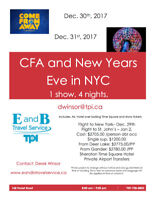 New Years Even In New York and Come From Away
