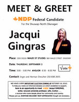 Meet & Greet Your Local Federal NDP Candidate
