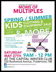 Fredericton Area Moms of Multiples Childrens Consignment Sale