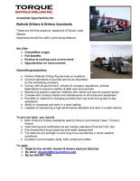 Class 1 Driver, Drillers & Drillers Assistants