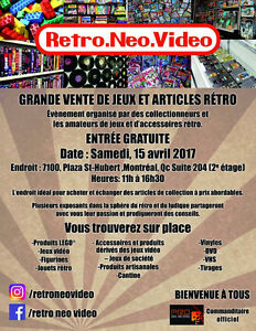 GRANDE VENTE DE JEUX VIDEO NINTENDO  ET ARTICLES RETRO