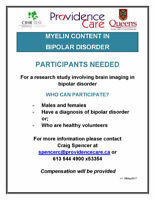 Research Participants Needed - Bipolar 1 and Healthy Controls
