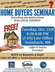 FREE Home Buyers Seminar!