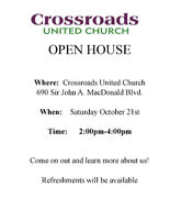 Open House at Crossroads United Church